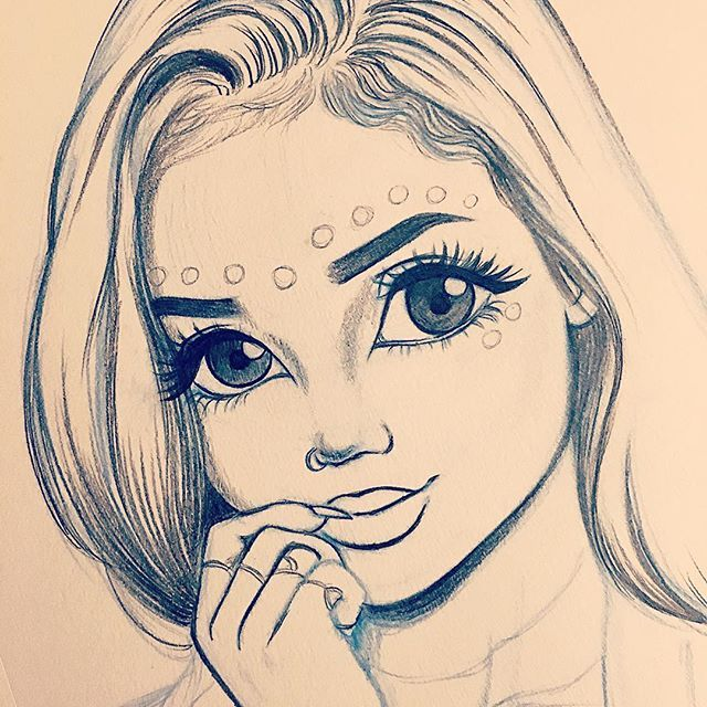 Top 25 best girl drawings ideas on pinterest drawings for What to draw inspiration