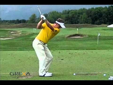 Luke Donald - slow motion golf swing.  Here is a good slow motion video of Luke Donald. In 2011, he played some very consistent golf and became the #1 player in the world. You can learn a lot by watching his golf swing. Notice how well he swings the club on plane. Swinging the club on plane is a key to hitting the ball solid and maintaining a consistent ball flight.  This is a very nice #golf swing to try to copy.