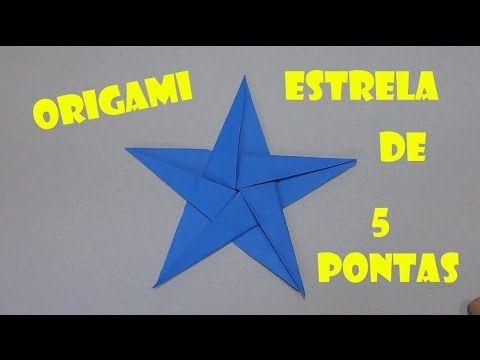 Origami - Estrela de 5 pontas - Faça a sua! - YouTube