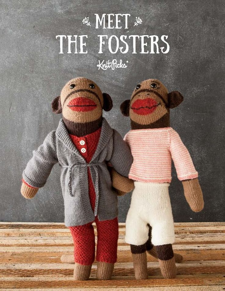 The forth installment of our Twelve Weeks of Gifting Free Patterns features the wonderful Meet the Fosters monkeys!