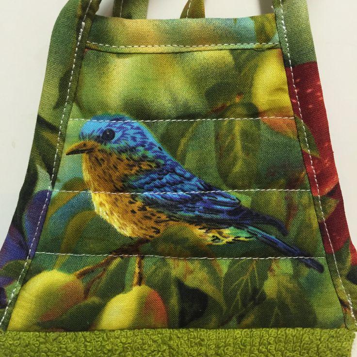Bird Kitchen Towel,Blue Bird Towel,Green Towel,Kitchen Decor,Birthday Gift,Tea Towel,Mothers Day Gift,Teacher Gift,Grandma Gift,Hostess Gift by thestuffedcat on Etsy