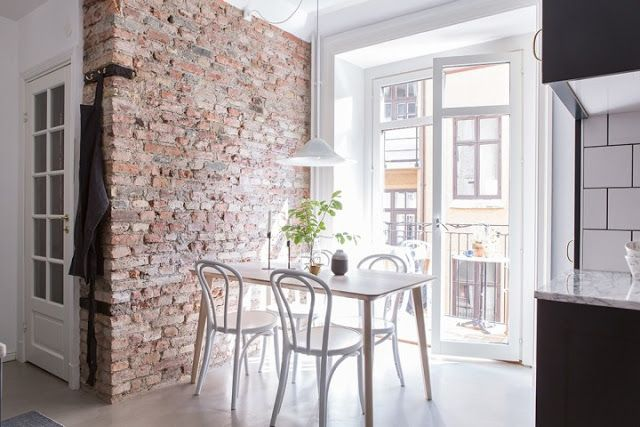 Kitchen Finishes Brick, Polished Cement, Marble, Tile and Wood 6
