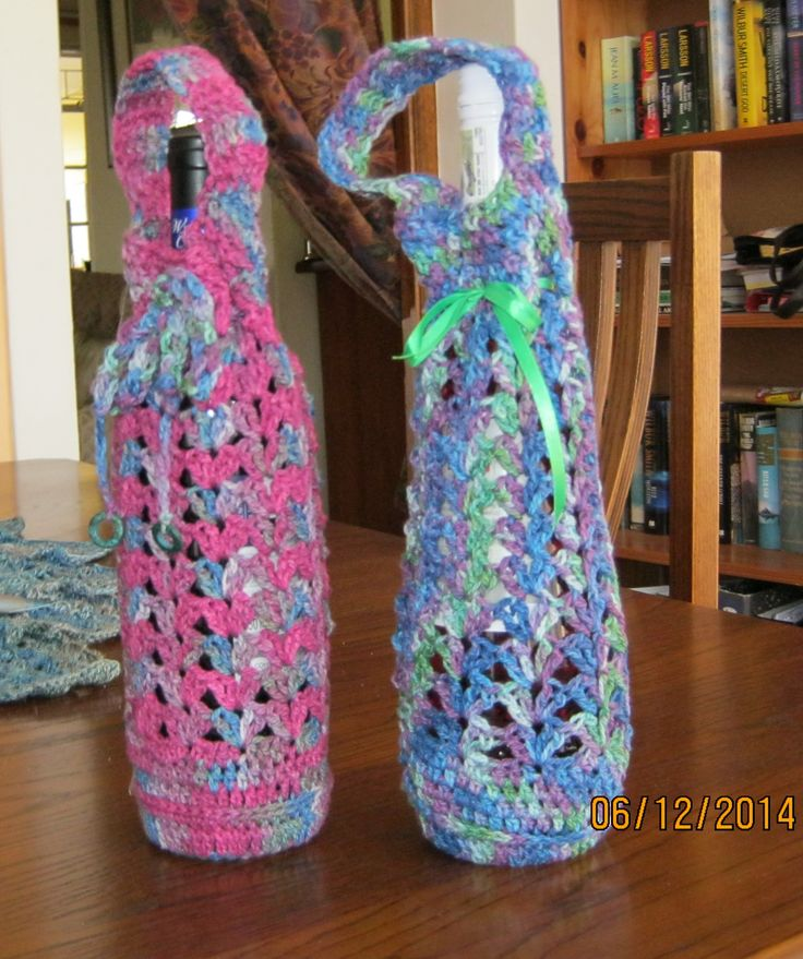 Wine caddies for Christmas gifts made with Organic Cottons.
