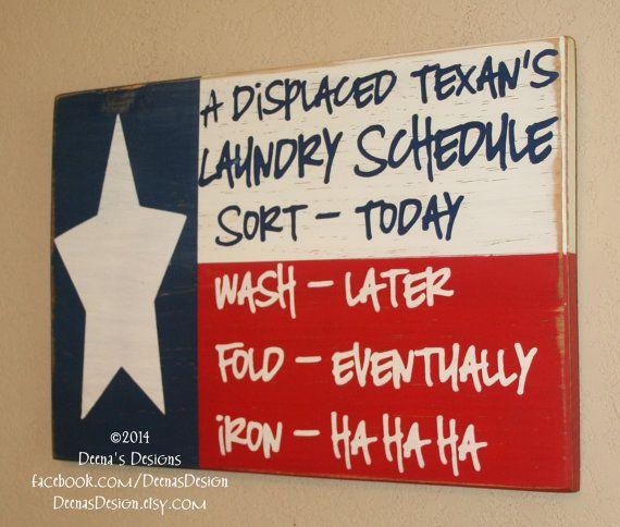 Texas Flag Decor Laundry Room Decor Laundry Sign by DeenasDesign