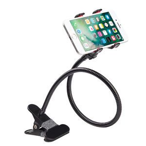 Metal Lazy Bed side Desktop Car Mount Phone Holder Clip for iPhone 6 Galaxy Note