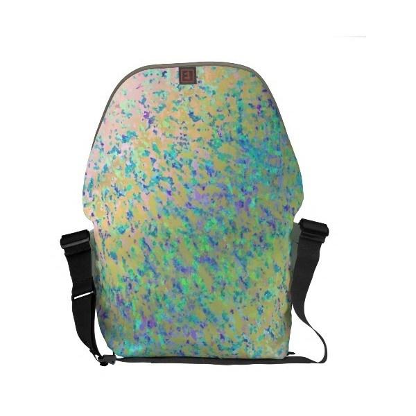 Messenger Bag Informel Art Abstract ($105) found on Polyvore