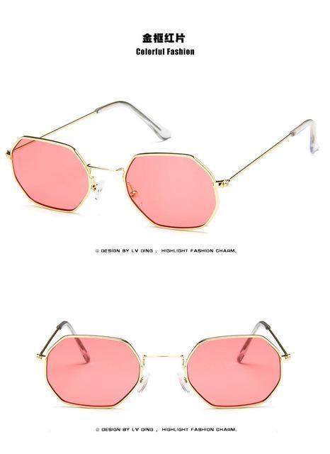 a785bb3d334f2 Hexagon Small Square Sunglass Women Fashion Brand Design Men Metal  Transparent Mirror Optical Sun Glasses Oculos De Sol Feminino   Products    Pinterest ...