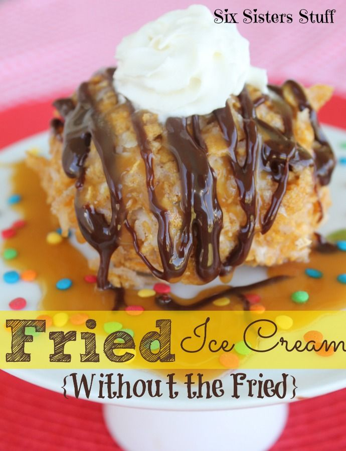 Fried Ice Cream (Without the Fried) | Six Sisters' Stuff