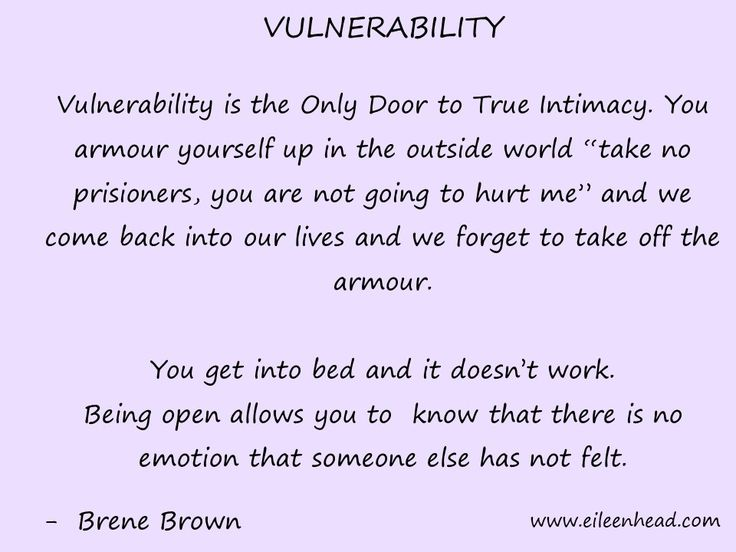 Vulnerability is the Only Door to True Intimacy. -Brene Brown