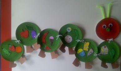 Wat heeft de rups allemaal gegeten?    http://www.crafts-for-preschool-kids.com/more-crafts.html