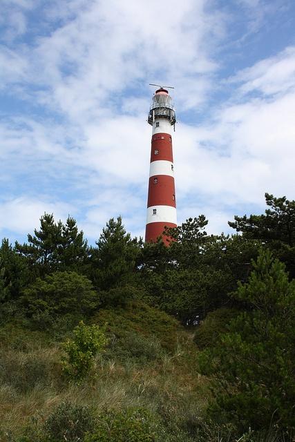 Lighthouse Ameland. Hollum, Friesland, NL,