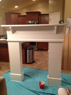 DIY Fireplace Mantel...Good directions. Could simplify box legs & use narrower wood. Corbels are $2. each from Home Depot.