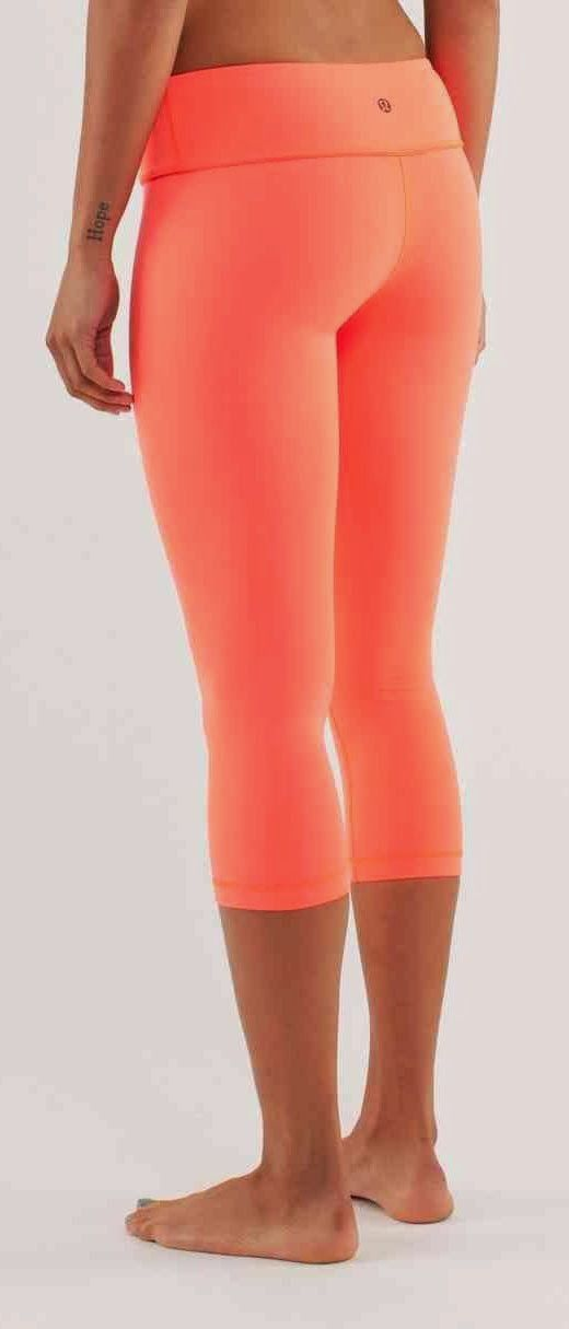 Orange capris | Women's tights | Workout clothes | running ...