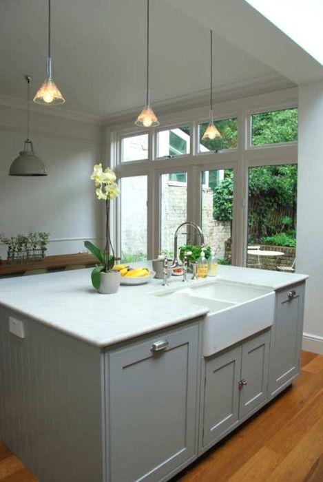 Modern Victorian kitchen.
