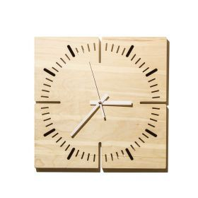 TokLok wall clock. Wall clock in birch plywood, size 30x30x2 cm, complete with mechanism and hands.