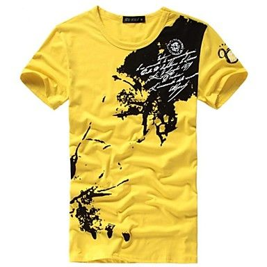 Mens Casual Short Sleeve T-Shirt With Print Design (3 Colours)