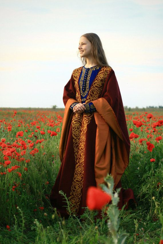 Medieval cloak Historical cloak Elven cloak by HistoricalCostumes