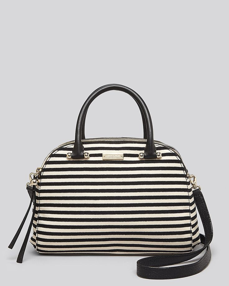 Striped satchel for every occasion.