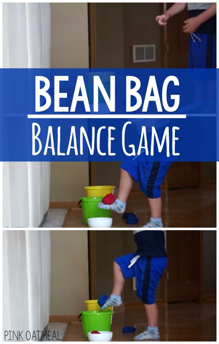 The bean bag balance game is a fun and effective way to work on balance through play! Play this game with one or several children!