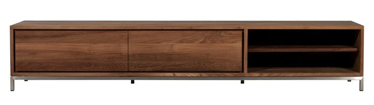 Meuble tv TECK ESSENTIAL d'Ethnicraft , 2 tiroirs Dimensions : L. 209cm P. 47cm H. 38cm