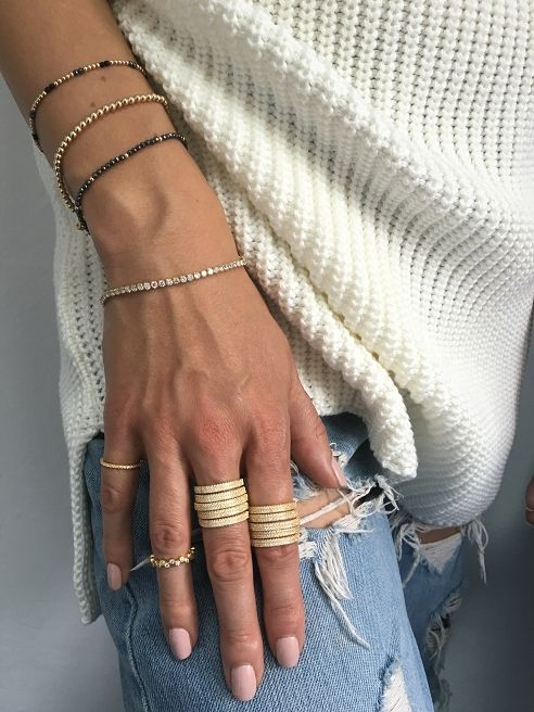 Bransoletka / jump / hematyt / złocenie - Selfie Jewellery - Sklep Internetowy
