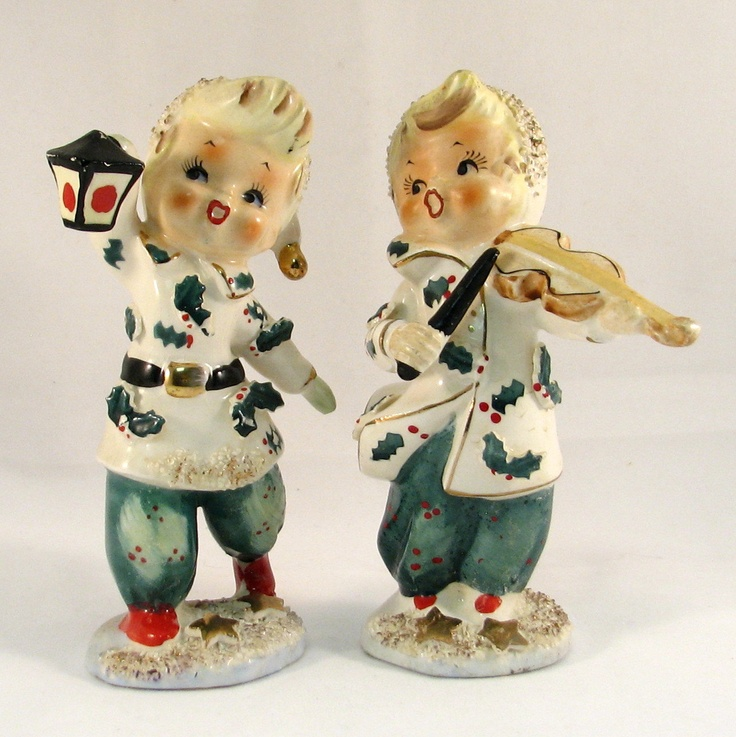 Vintage Ceramic Christmas Carolers Choir Boy And Girl: 17 Best Images About Vintage Christmas On Pinterest