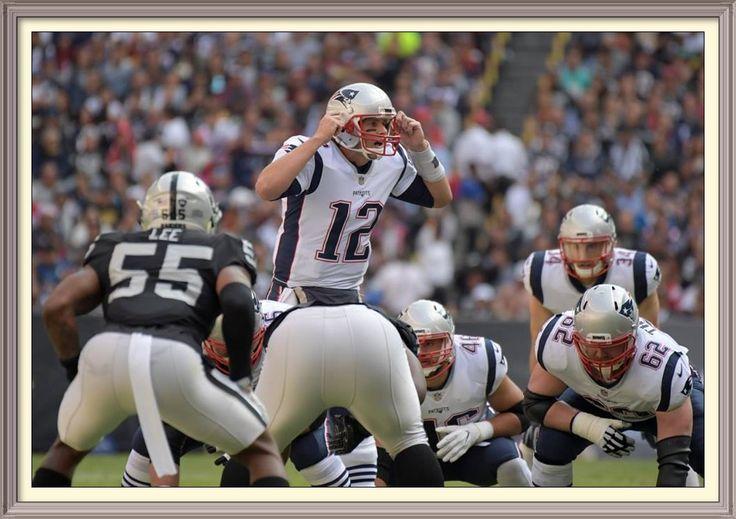 Nov 19, 2017; Mexico City, MEX; New England Patriots quarterback Tom Brady (12) reacts during an NFL International Series game against the Oakland Raiders at Estadio Azteca. Mandatory Credit: Kirby Lee-USA TODAY Sports — at Estadio Azteca.