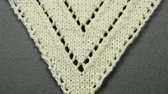 DROPS Knitting Tutorial: How to work the shawl with cable edge in DROPS 172-10 - YouTube