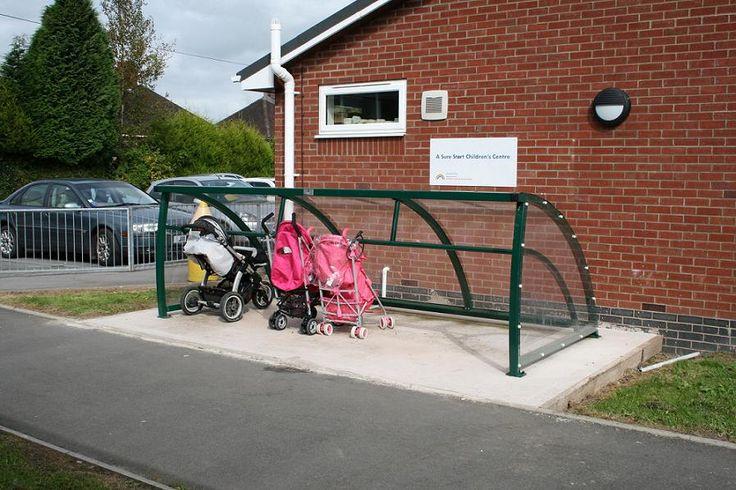 Beresford Childrens Centre, Haregate. FalcoRoller Buggy Shelter.