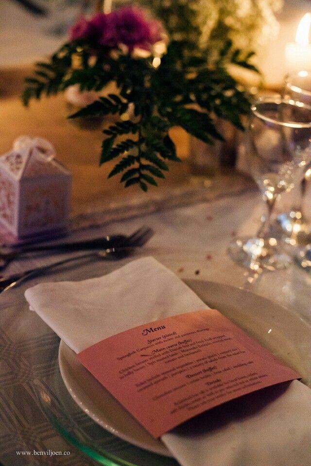 Rustic, country, wedding, menu card, pink, burlap, lace