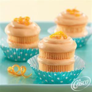 Orangesicle Creme Cupcakes from Crisco®