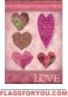 Love Hearts Garden Flag