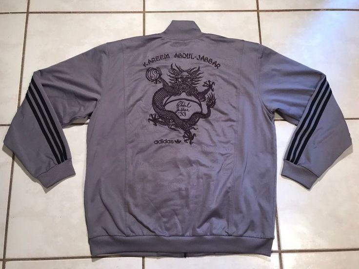 Rare ADIDAS Kareem Abdul Jabbar GAME OF DEATH Track Jacket Men's XL  | eBay