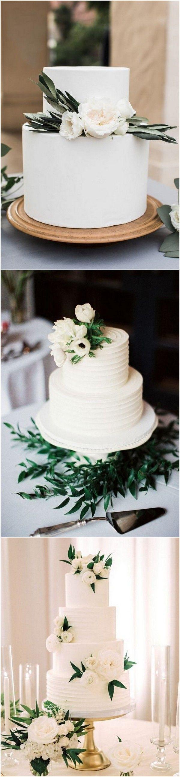weiße und grüne elegante Hochzeitstorten   – Torten/Kuchen