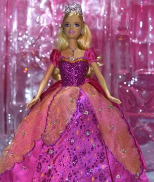The most expensive Barbie she got real diamonds.