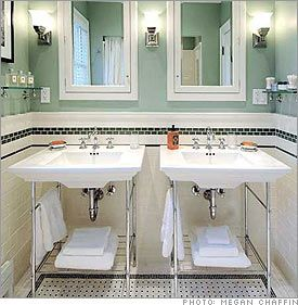 Black And White Retro Bathrooms 69 best black & white vintage bathroom images on pinterest | home