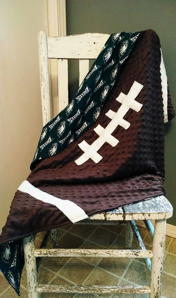 Hey, I found this really awesome Etsy listing at https://www.etsy.com/listing/191032402/custom-cotton-football-blanket
