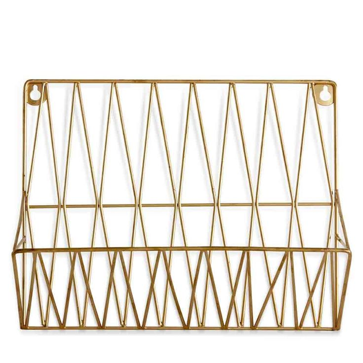 69 best t r e n d gold matters images on pinterest for Trendy magazine rack