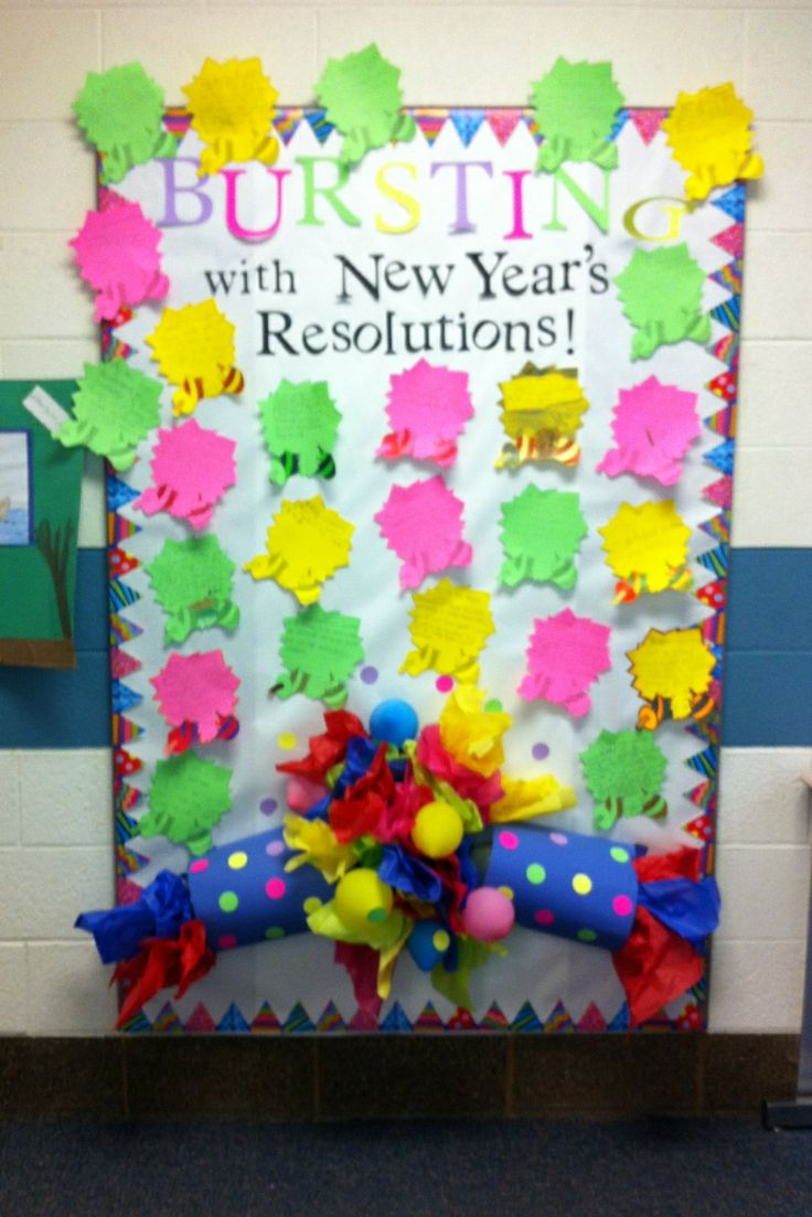 January New Years Bulletin Board | School Bulletin Boards ...