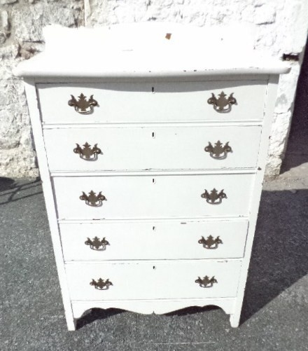 Vintage Tall White Dresser $95 - Pottstown http://furnishly.com/catalog/product/view/id/4596/s/vintage-tall-white-dresser/