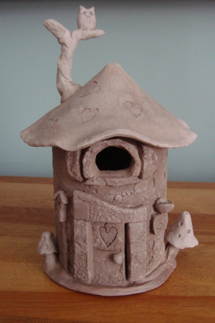 my fairy house, it was so much fun to make hope it still looks great once its glazed