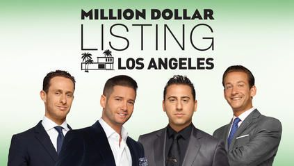 Million Dollar Listing Los Angeles on Bravo Tv - David Parnes, Josh Flagg, Josh Altman & James Harris, (Madison Hildebrand, not pictured)