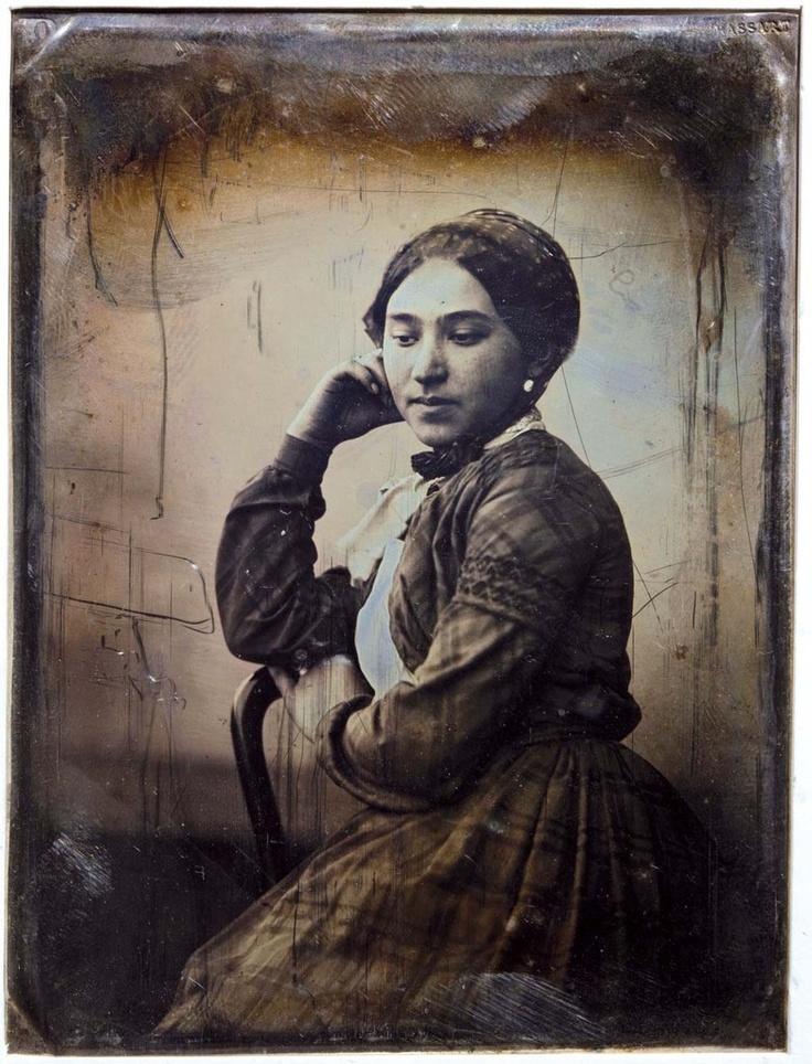 Gustave Le Gray. Palmira Leonardi (Mme Le Gray) 1848. Remerciement Serge Plantureux