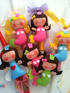 felt mermaids handmade by Sugarbaby Art