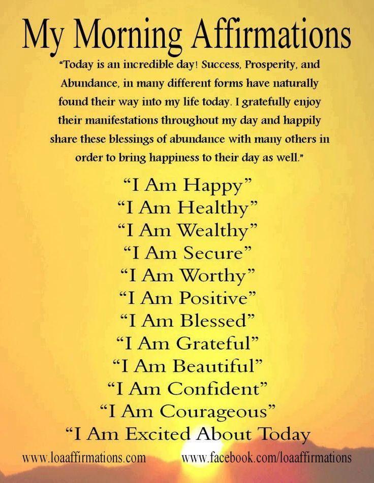 Morning affirmations