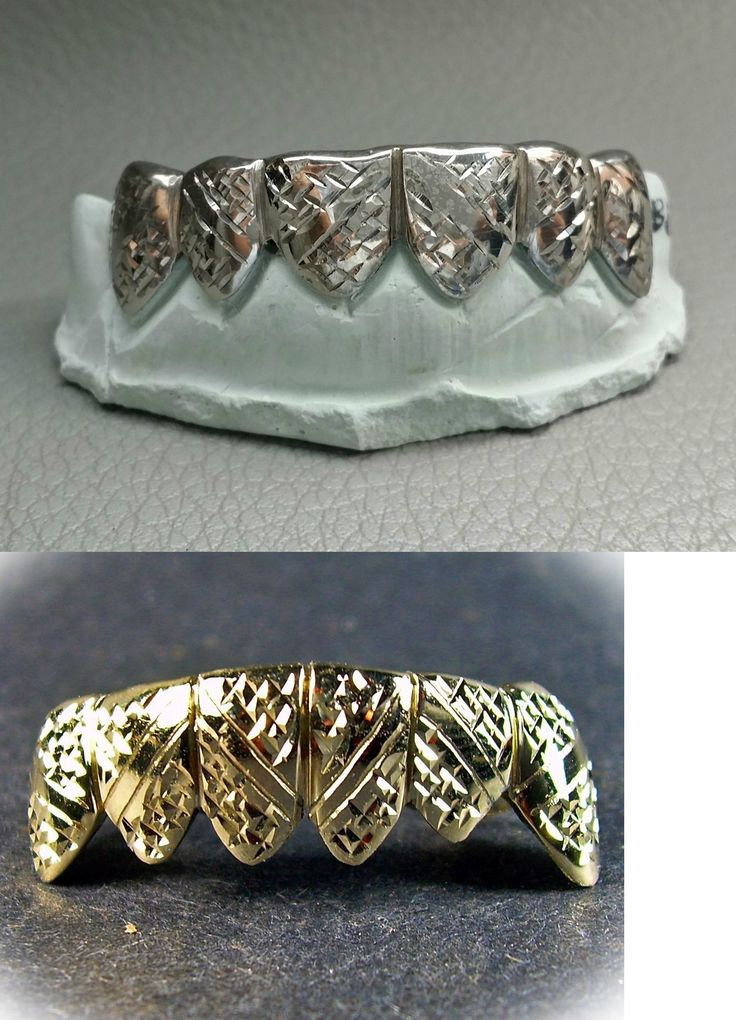 Grillz Dental Grills 152808: Sterling Silver 10K 14K Solid Gold Custom Made Emerald Diamond Cut Grill Grillz BUY IT NOW ONLY: $140.0