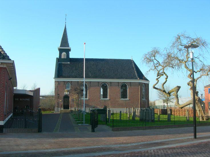Kerkje in Surhuisterveen. Friesland The Netherlands
