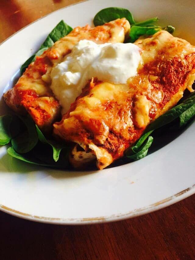 Crazy popular - Chicken and chorizo enchiladas  Recipe here - https://www.healthymummy.com/recipe/chicken-chorizo-enchiladas/?lbwref=83&utm_content=buffer5902b&utm_medium=social&utm_source=pinterest.com&utm_campaign=buffer