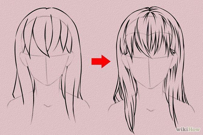 Cómo dibujar cabello de anime                                                                                                                                                     Más