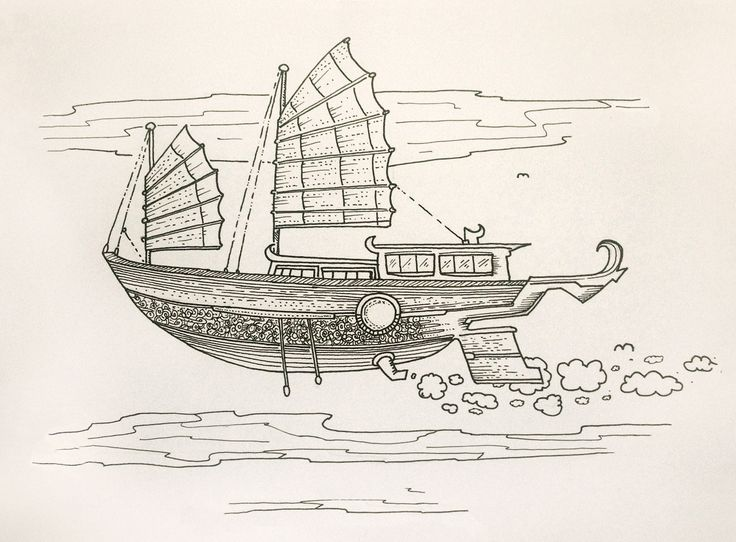 #inktober2017 #ink #ship